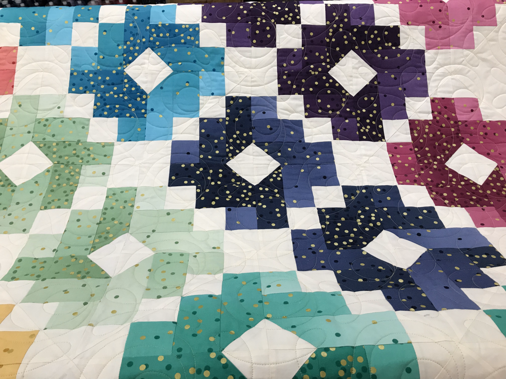 chain quilt red barn quilting